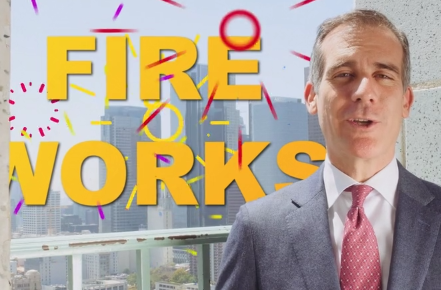 Mayor Garcetti video on Fireworks