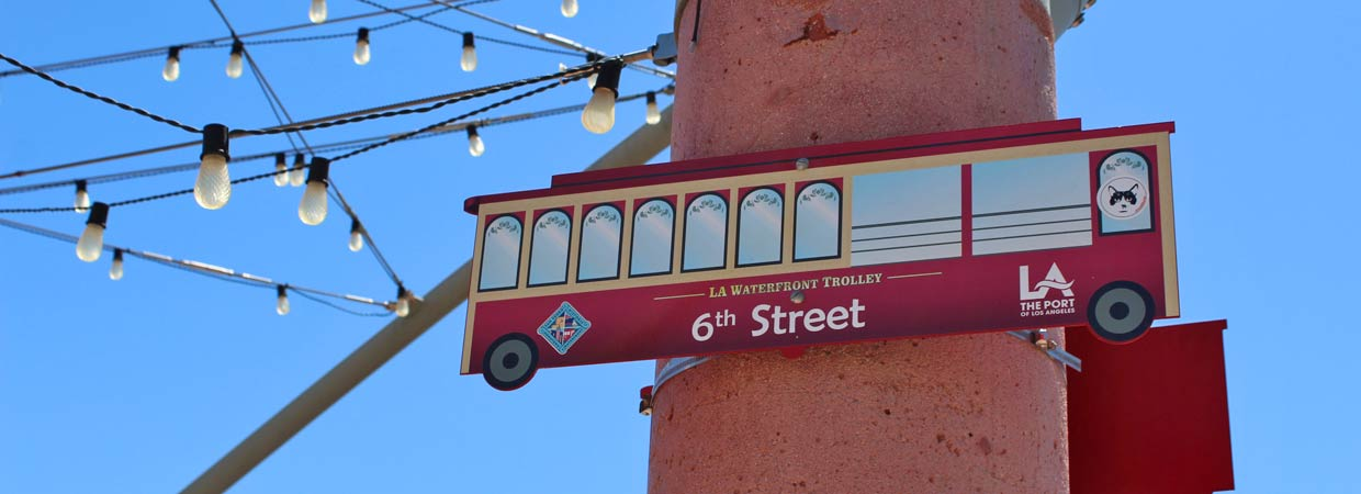 6th Street Trolley Sign