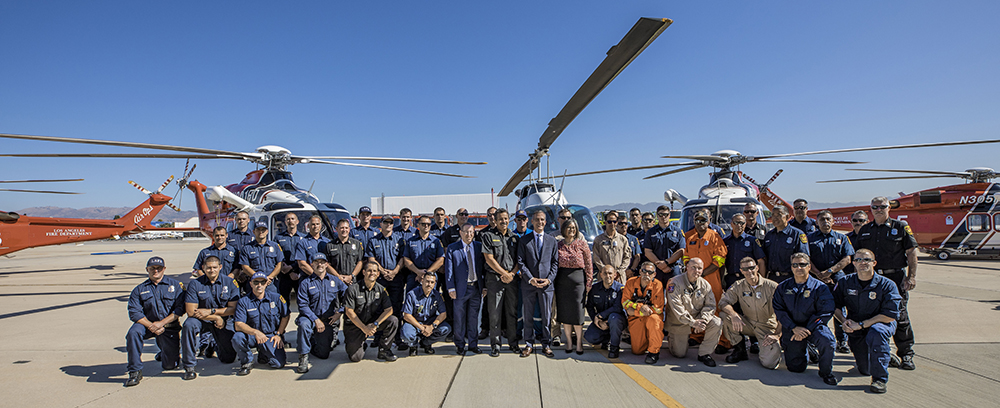 LAFD Helicopter & Crew