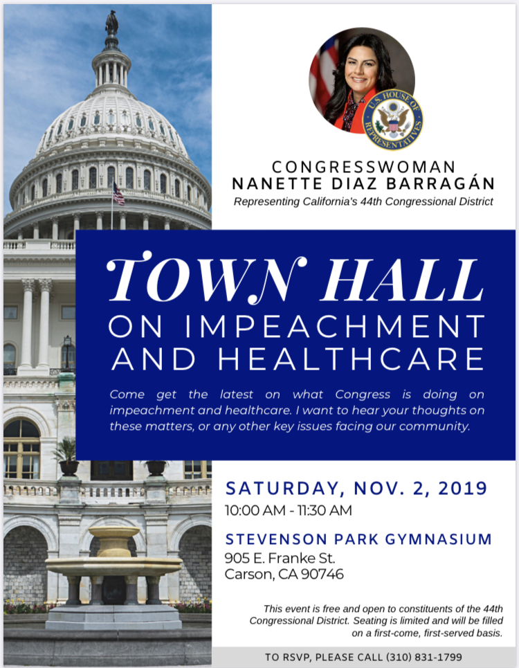 Congresswoman's Town Hall on Impeachment and Healthcare