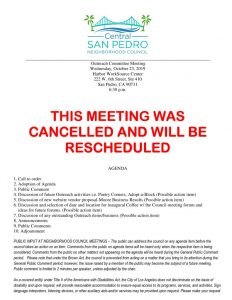 thumbnail of Outreach Committee Agenda Oct2019 CANCELLATION