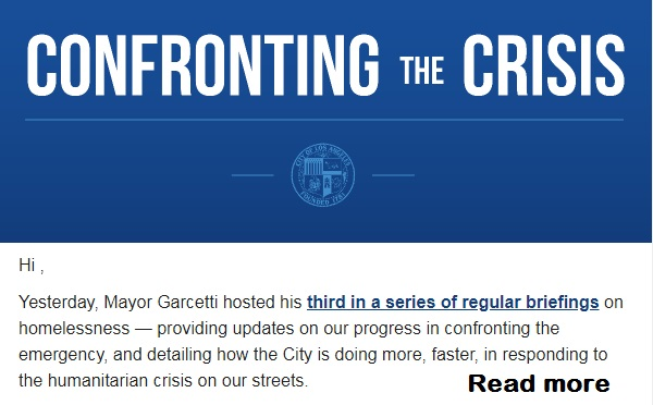 Mayor Garcetti's Third Briefing on Homelessness - Confronting the Crisis