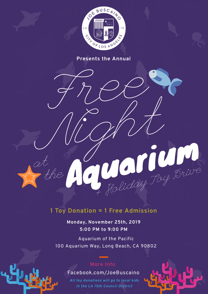 Councilman's Free Night at the Long Beach Aquarium