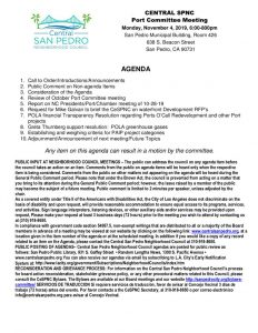 thumbnail of CeSPNC Port Commitee Agenda 11-4-19
