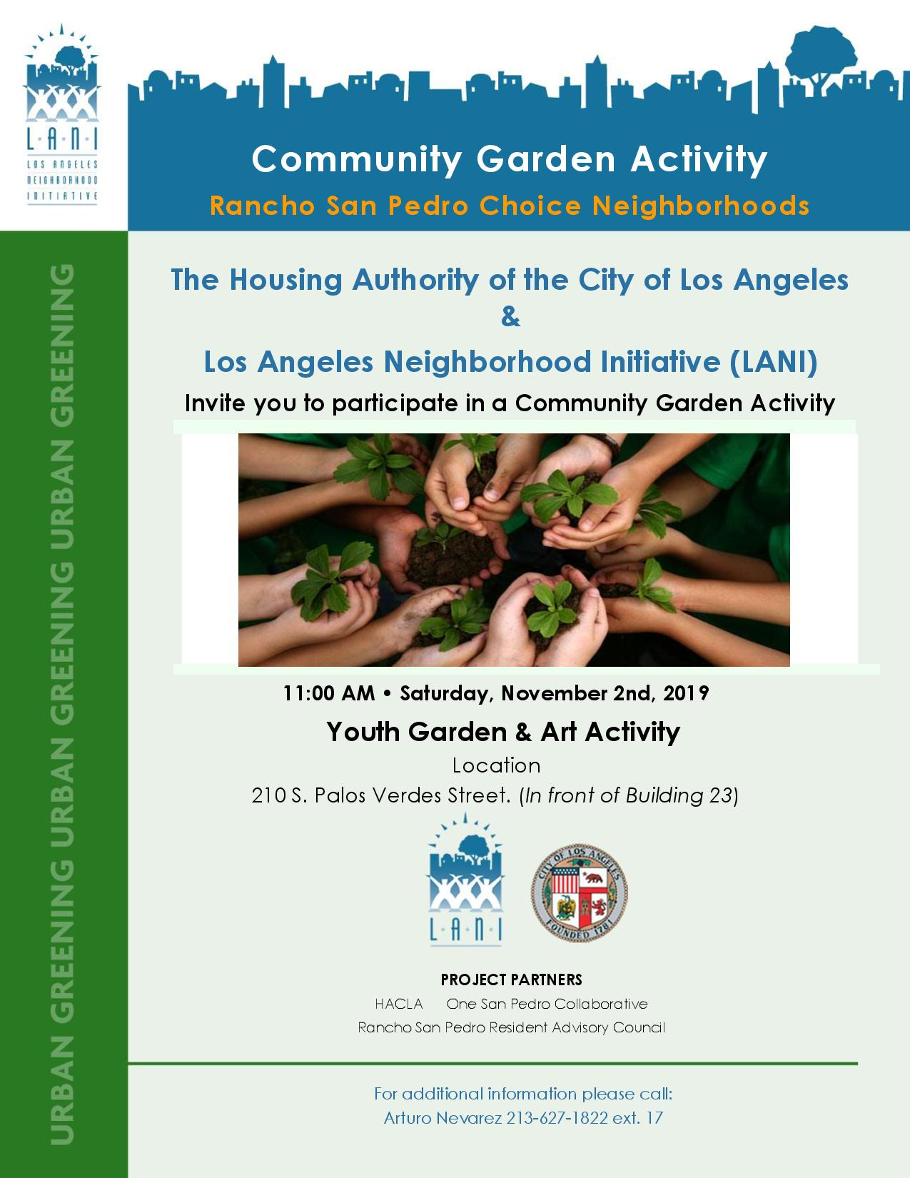 Community Garden Activity at Rancho San Pedro