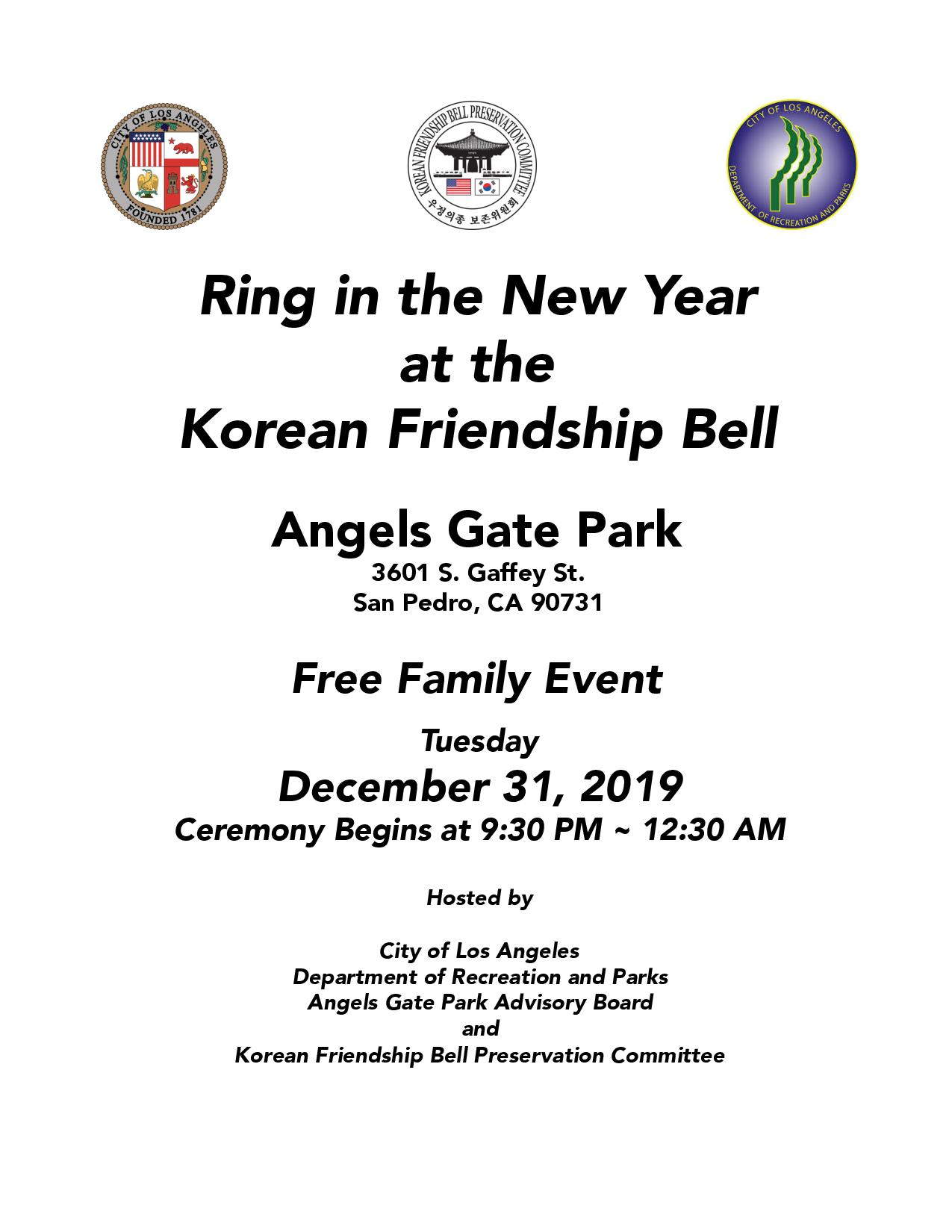 Ring in the New Year at the Korean Friendship Bell