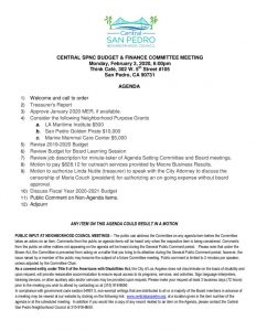thumbnail of Finance Committee agenda 2-3-20 CeSPNC