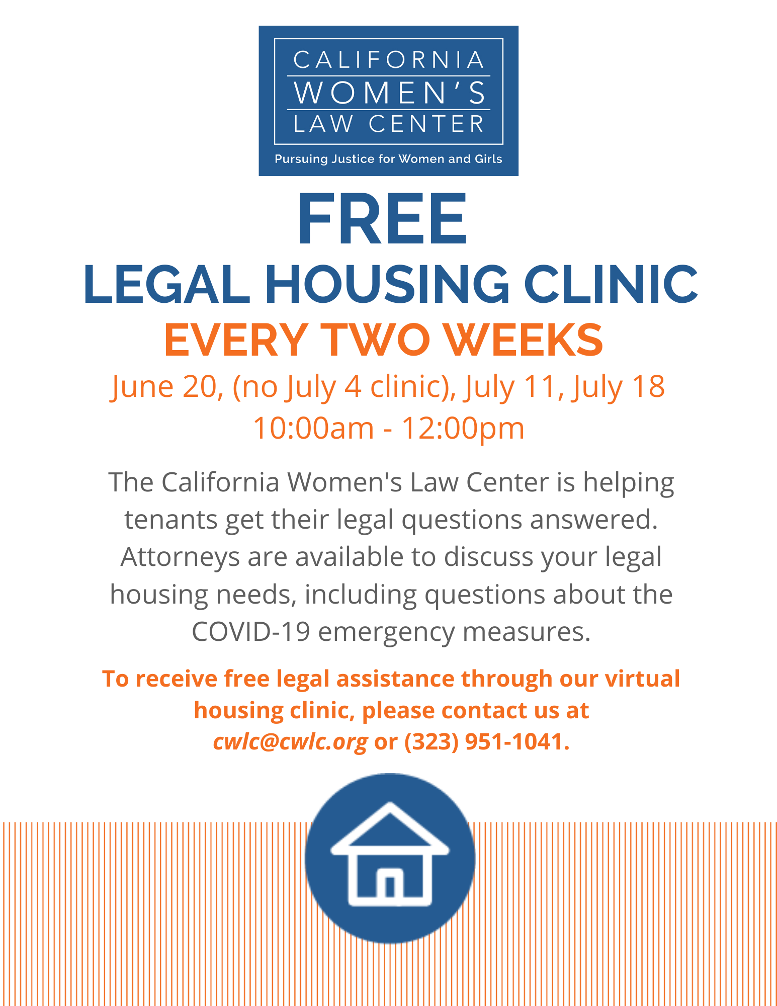 Free Legal Housing Clinic Every Two Weeks