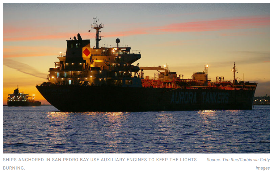 Ship emissions off Southern California boost risk of Covid-19 infections