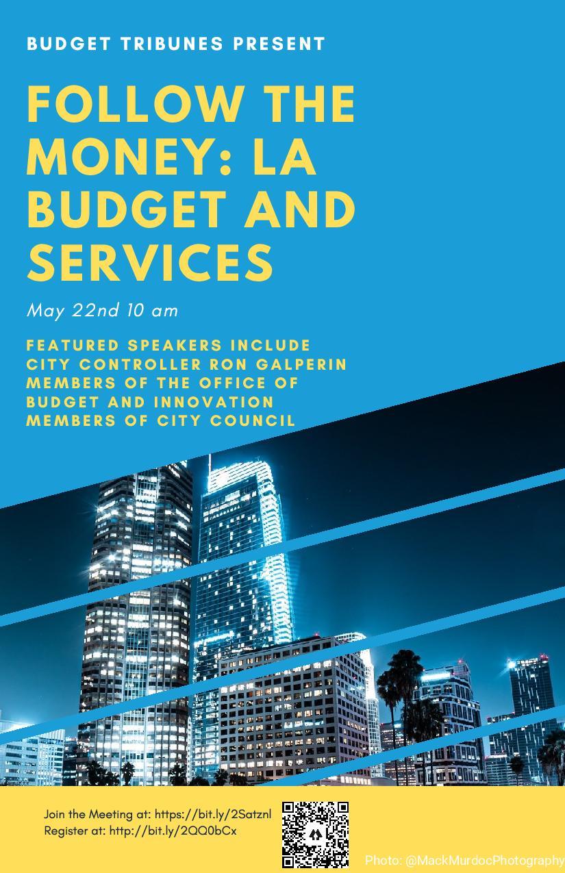 Follow the Money:  LA Budget & Services Webinar May 22nd.