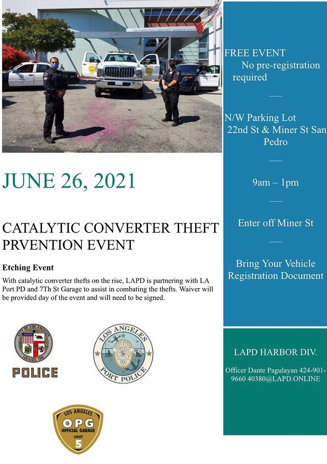 Catalytic Converter Theft Prevention Event June 26th 9am-1pm