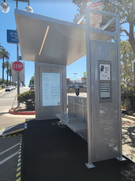 New interactive LA DOT Bus Shelters. Check out the photos.